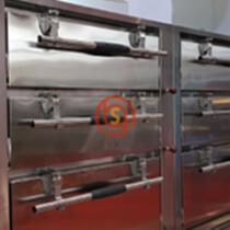 高世帛 海鮮蒸柜門把手 GSB8003 聯動壓緊式不銹鋼手柄